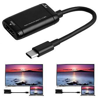 Adattatore convertitore USB-C 3.1 da cavo C a HDMI da C a HDMI 4K HD TV per Macbook Samsung