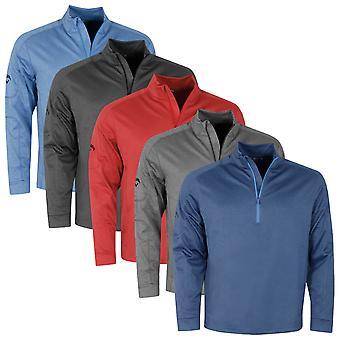 Callaway Golf Mens 2021 Gaufre Tricot 1/4 Zip Thermal SwingTech Golf Pullover