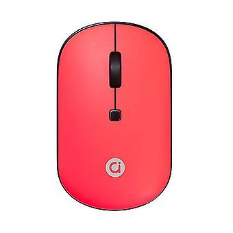 ASUS adol 2.4GHz עכבר אלחוטי קל משקל, מהדורה צבעונית (אדום)