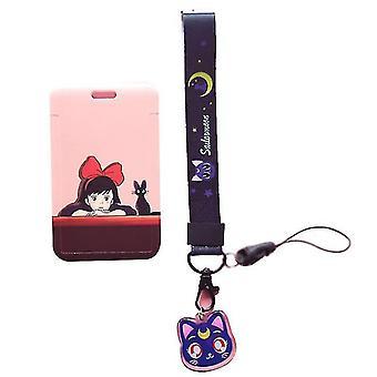 Beautiful Girl Anime Lanyard Keychain Neck Belt Id Card Id Card Holder Yake Lanyard Hanging