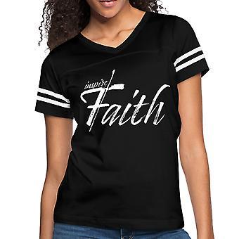 Women's Short Sleeve T-shirt, Inspire Faith Vintage Sport Graphic Tee