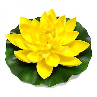 Artificial Lotus Flower Realistic Water Lily Pads For Pond Aquarium Pool Garden