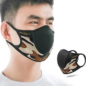 Sport Mask For Men Camouflage Print Breathable Cloth Dust-proof Mouth Mask For Adult Facemask Mesh Masks Decoration Accessories