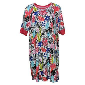 رمز الراحة من قبل الحضن دودز المرأة زائد الأزهار Sleepshirt الأحمر 682887