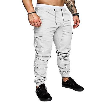 Automne- Hip-hop Joggers Pantalon Multi-poche Skinny Cargo Pants