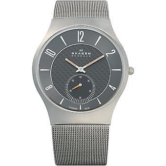 Skagen Grey Titanium Strap and Black/Grey Dial Men's Watch 805XLTTM