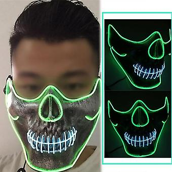 Christmas Party Glow Mask Glowing Mask Horror Glowing Role Play Mask
