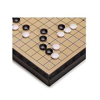 Große magnetische Go Spielbrett mit einem einzelnen konvexen Stein tragbare