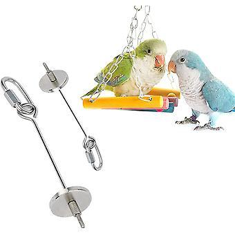 Bird Fruit Holder, Bird Skewer, Parrot Fruit Tool, Stainless Steel Parrot Skewer For Bird Cage Accessories Parrot Fruit Vegetable Tool (large + Small