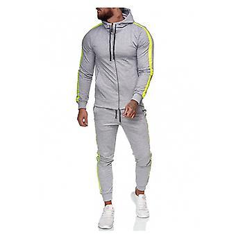 Herren Trainingsanzug Athletic Full Zip Casual Sport Jogging Gym Sweatsuit