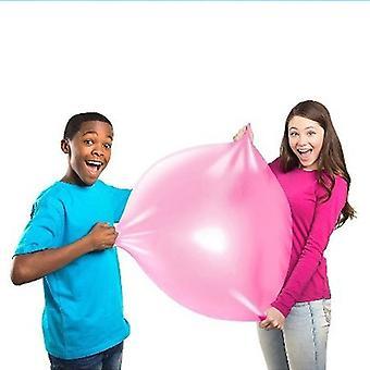 Lapset ulkona pehmeä ilma vesi täytetty kupla pallo räjäyttää ilmapallo leluja
