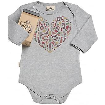 Spoilt Rotten Warm Mixed Heart Organic Babygrow In Gift Milk Carton