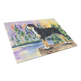 Carolines tesori SS8160LCB Greater Swiss Mountain Dog vetro La tavola di taglio