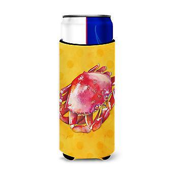 Krab żółty Polkadot Michelob Ultra Hugger dla slim puszek