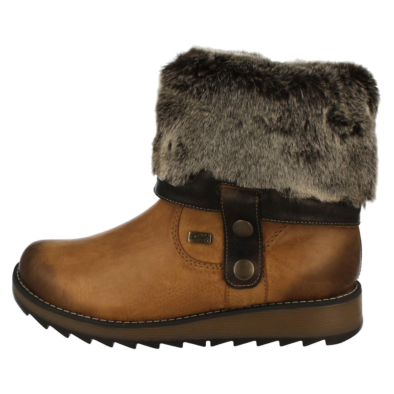 Ladies Remonte Alle Vær Warmlined Støvler D8874