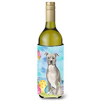 Staffordshire Bull Terrier Páscoa garrafa de vinho Beverge isolador Hugger