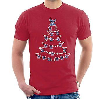 Lilo és Stitch karácsonyfa baubles férfiak ' s póló