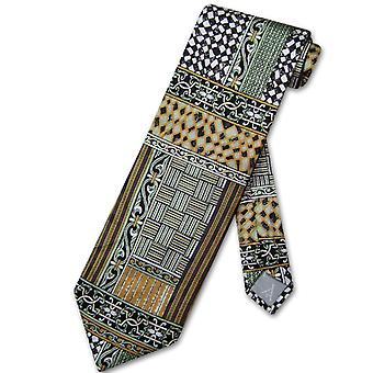 Antonio Ricci SILK NeckTie Made in ITALY Geometric Design Men's Neck Tie #3104-5