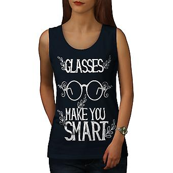 Glasses Make Smart Women NavyTank Top | Wellcoda
