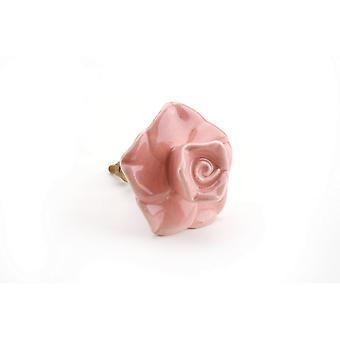 المعاملة هدايا الزهور الوردي مقبض درج السيراميك
