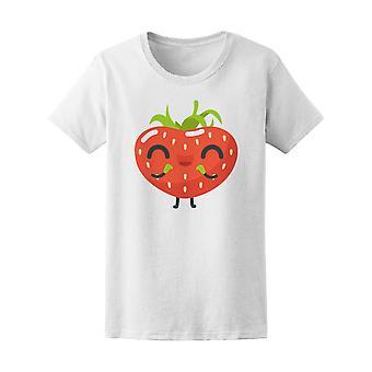 Kawaii Happy Strawberry Tee Women's -Image by Shutterstock