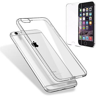 Silikoncase transparent + 0.3 H9 tempered glass for Apple iPhone 8 and 7 4.7 bag shell new