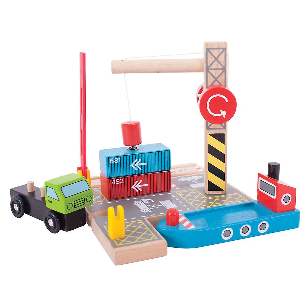 Bigjigs Rail Wooden Container Shipping Yard Railway Train Set Accessories