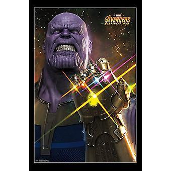 Vengadores infinito guerra - impresión del cartel de Thanos