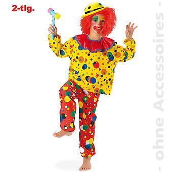 Clown kostym barn Clownkostüm komedi jester Harlequin Childs kostym