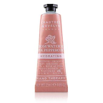 Crabtree & Evelyn Rosewater & Pink Peppercorn Hydrating Hand Therapy - 25ml/0.86oz