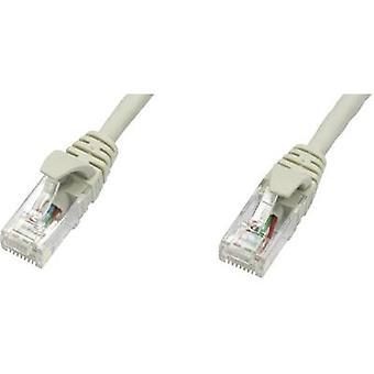Telegärtner RJ45 L00003E0003 Netzwerkkabel, Patchkabel CAT 5e U/UTP 5,00 m Grau flammhemmend