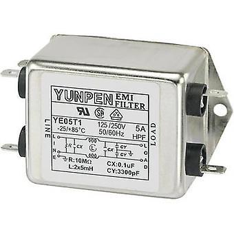 Yunpen YE05T1 EMI filter 250 V AC 5 A 5 mH (L x W x H) 75 x 51 x 37 mm 1 pc(s)