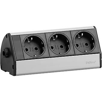 EVOline 93000393 Socket strip (w/o switch) Black, Silver PG connector 1 pc(s)