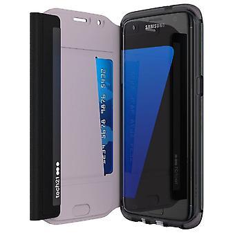 Tech21 Evo Wallet Folio Flip Case Cover for Samsung Galaxy S7 edge - Black (T21-5240)