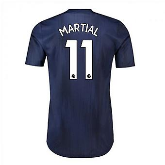 2018-2019 Man Utd Adidas Third Adi Zero Football Shirt (Martial 11)