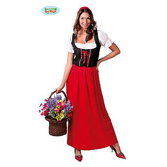 Little Red Riding Hood servante médiévale maid costume femmes