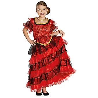 Spanierin Kinder Kostüm Mädchen Kleid Flamenco Karneval