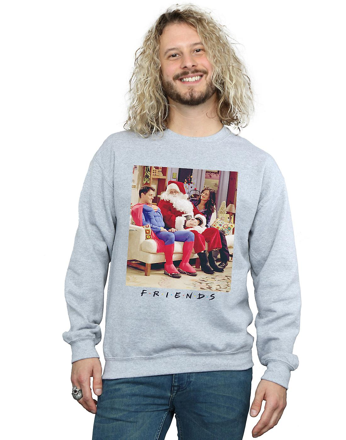 Friends Men's Superman And Santa Sweatshirt