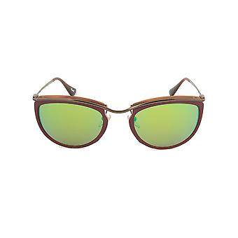 Persol PO3082S 1006/07 Sunglasses | Red and Matte Havana Frame | Brown Mirror Gold Lens