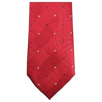Cravatte di Knightsbridge doppio Pattern Tie - rosso