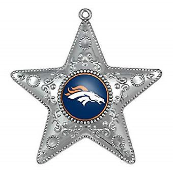 Denver Broncos NFL Sports Collectors Series Silver Star Ornament