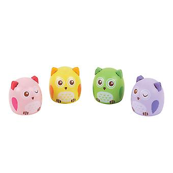 Bigjigs Toys Children's Owl Pencil Sharpeners (Pack of 4) Kid's Stationery