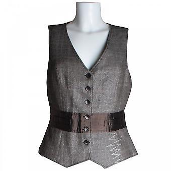 Tuzzi Waistcoat With Contrast Silk Panel