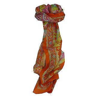 Amoreira cachecol longo tradicional Bahan tangerina por Pashmina & seda