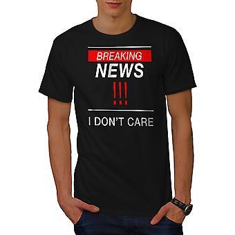 Breaking News Funy Men BlackT-shirt | Wellcoda