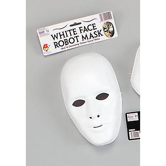 Deluxe Male Face Mask. White.