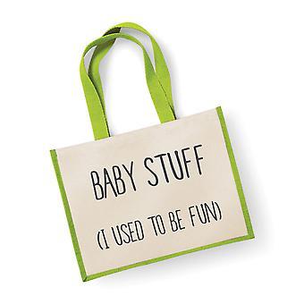 楽しいグリーンをする大規模なジュート バッグ赤ちゃんのもの