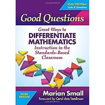 Bonnes Questions: D'incroyables modes de différencier l'enseignement de mathématiques en classe basée sur les Standards