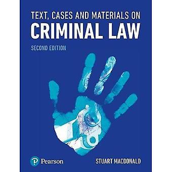 Tekst, saker og materiale på strafferett