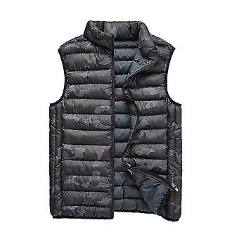 Cloudstyle Men's Quilted Vest Camouflage Sleeveless Jacket